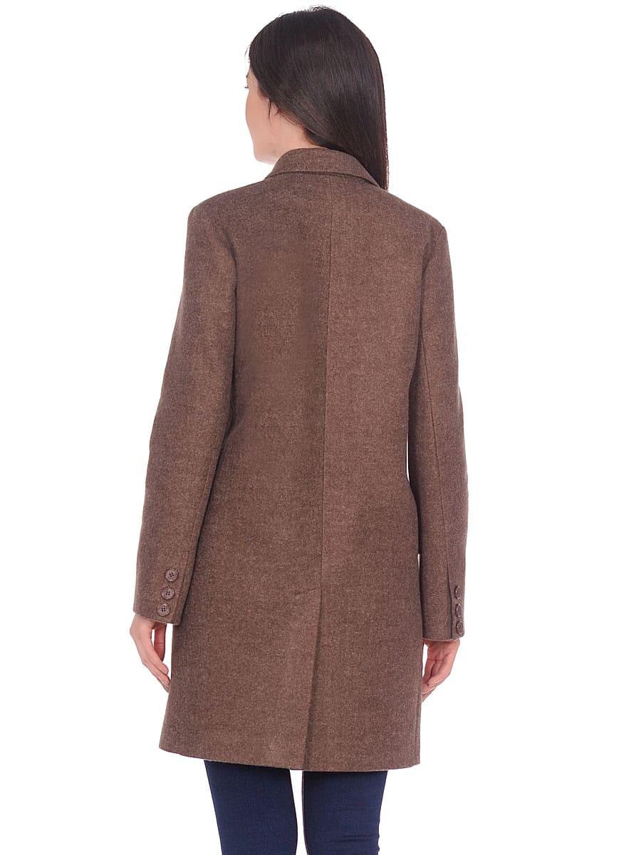 Женское демисезонное пальто hr-027 коричневое фото-3