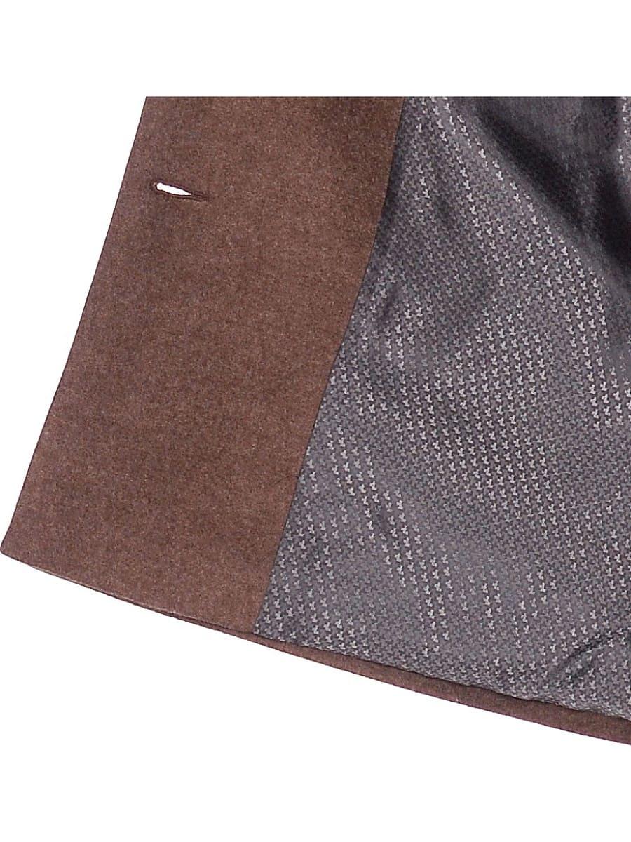Женское демисезонное пальто hr-027 коричневое фото-4