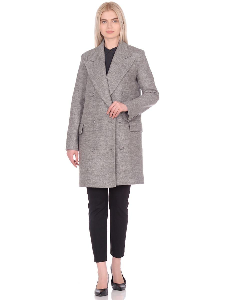 Женское демисезонное пальто hr-027 светло-серое фото-1