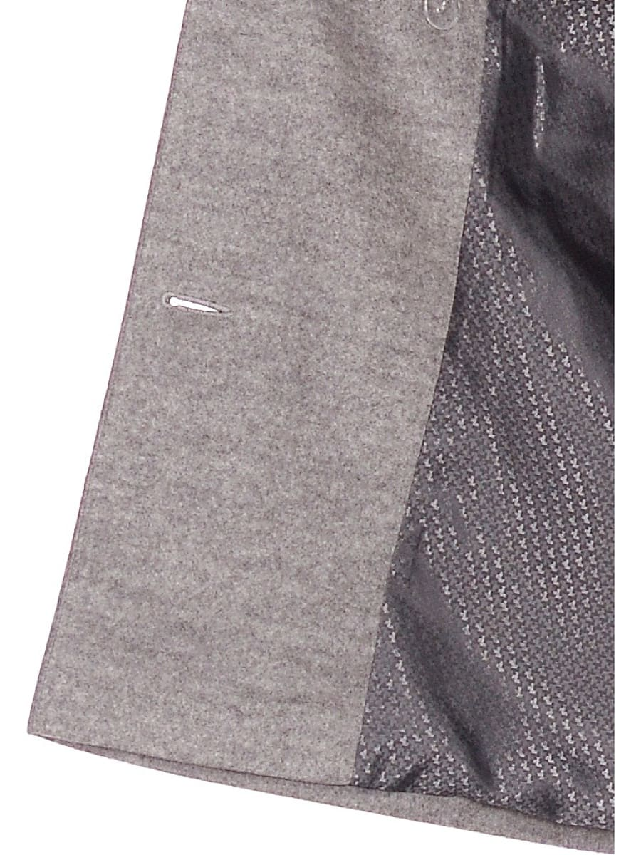 Женское демисезонное пальто hr-027 светло-серое фото-4