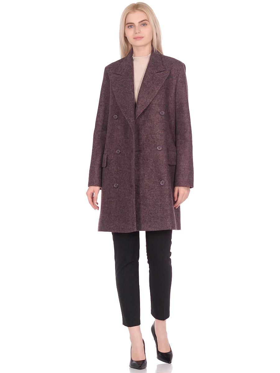 Женское демисезонное пальто hr-027 сливовое фото-1