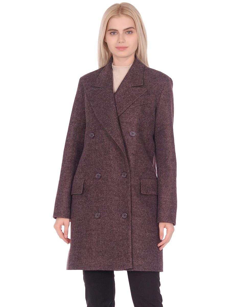 Женское демисезонное пальто hr-027 сливовое фото-2