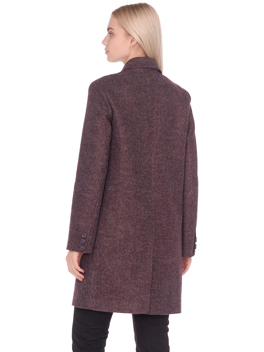 Женское демисезонное пальто hr-027 сливовое фото-3