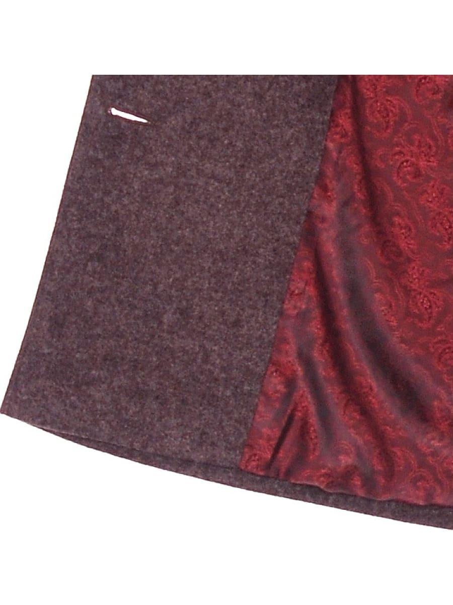 Женское демисезонное пальто hr-027 сливовое фото-4