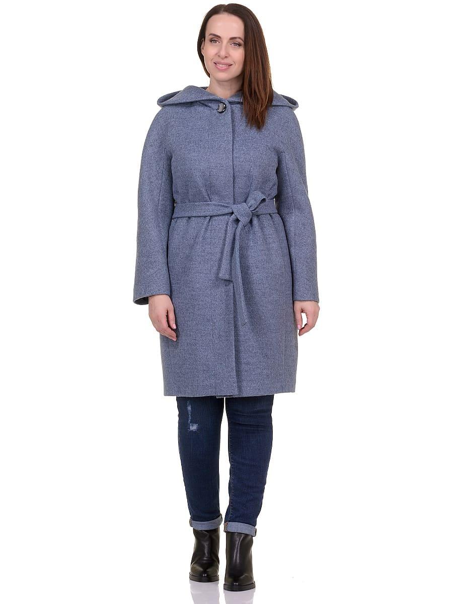 Женское демисезонное пальто hr-033 голубое фото-1