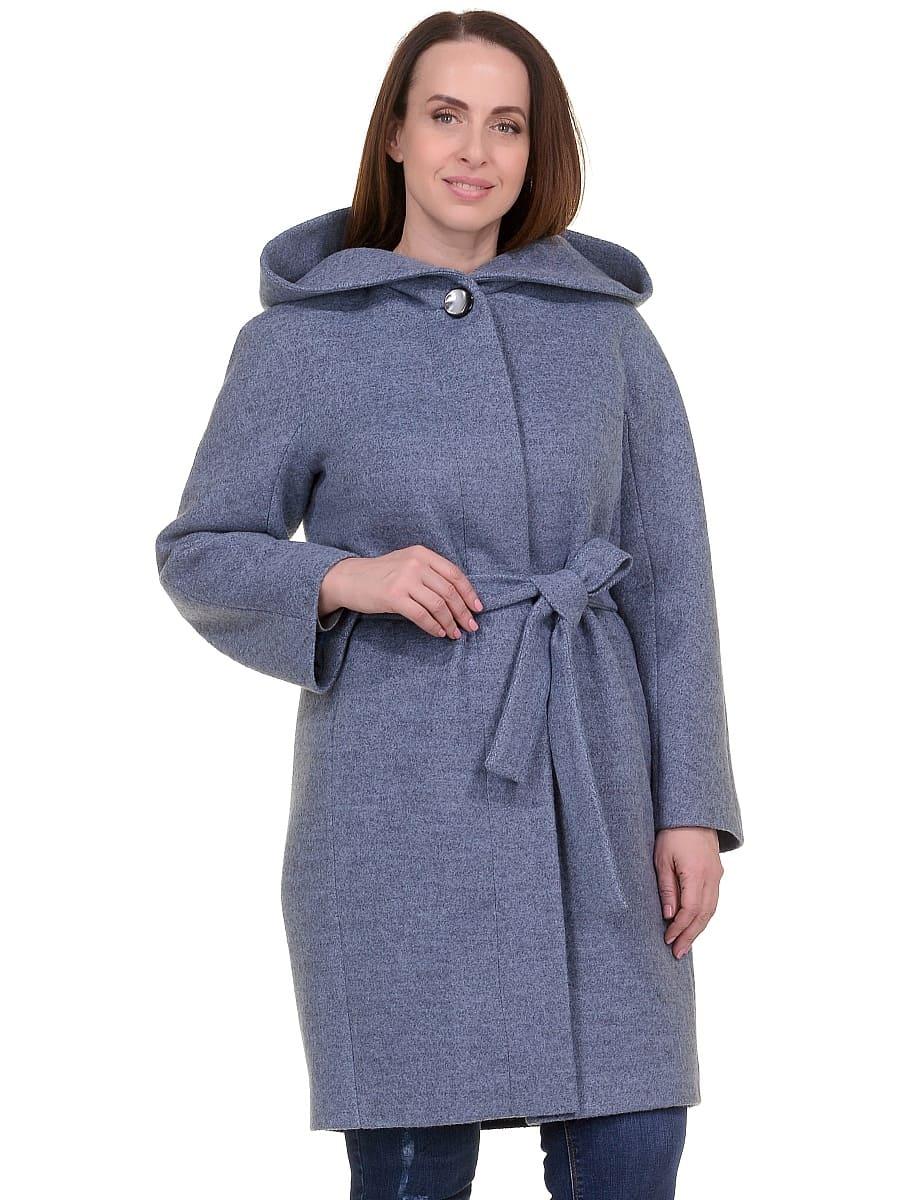 Женское демисезонное пальто hr-033 голубое фото-2