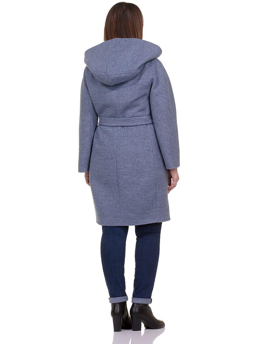 Женское демисезонное пальто hr-033 голубое фото-3