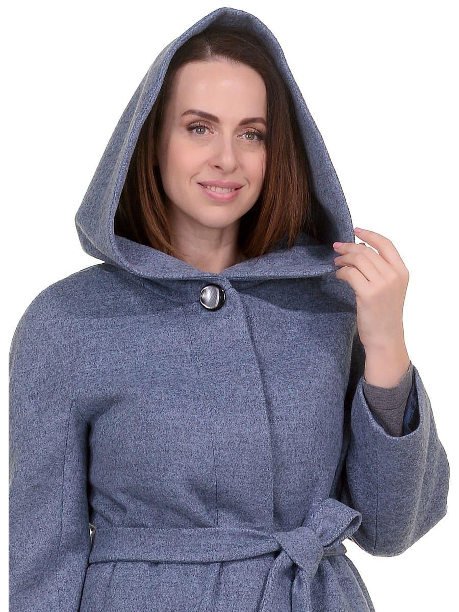 Женское демисезонное пальто hr-033 голубое фото-4