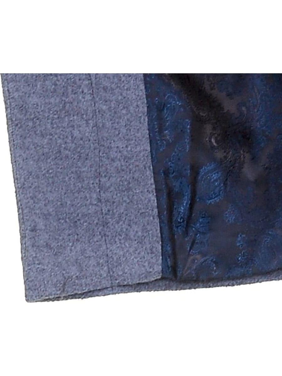 Женское демисезонное пальто hr-033 голубое фото-5