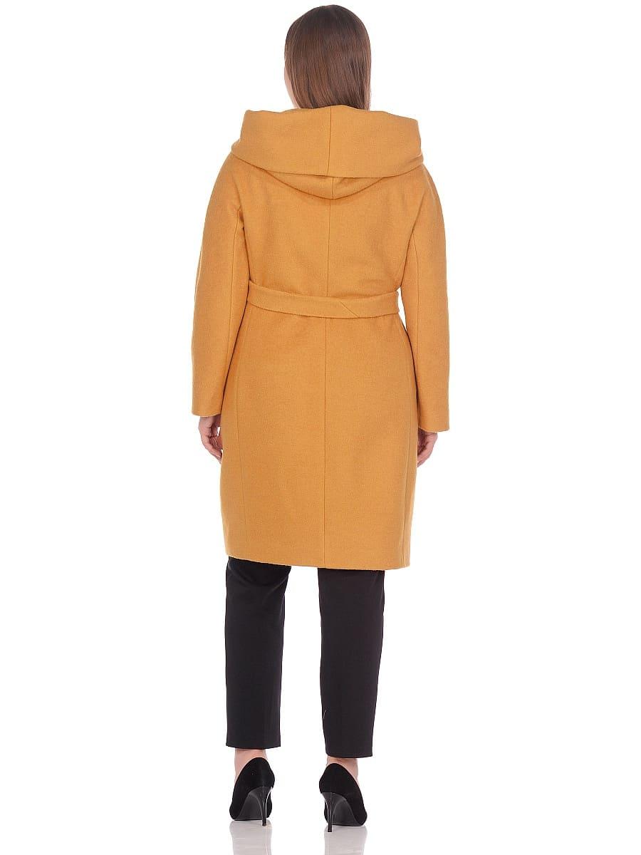 Женское демисезонное пальто hr-033 горчичное фото-3