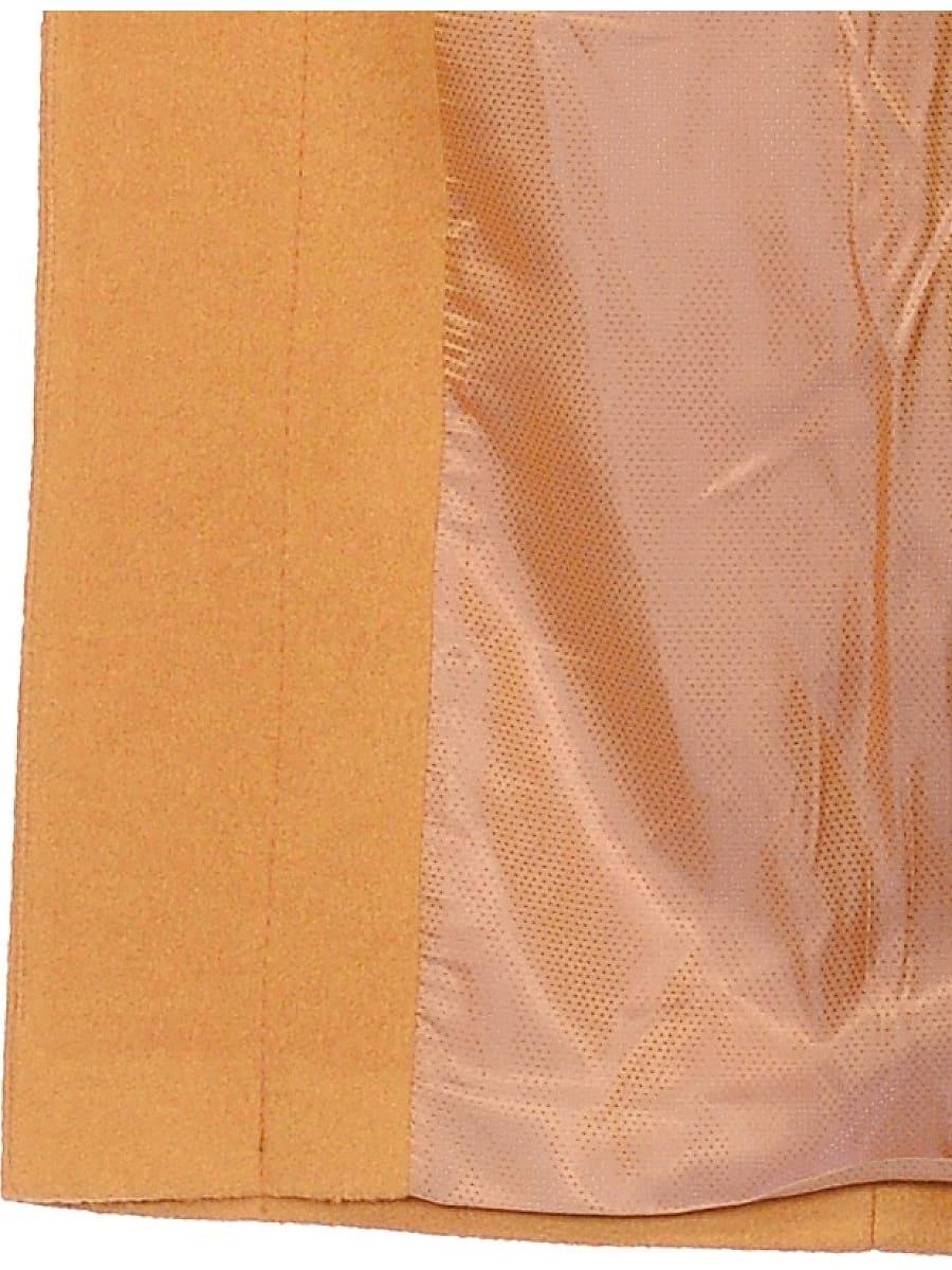 Женское демисезонное пальто hr-033 горчичное фото-5