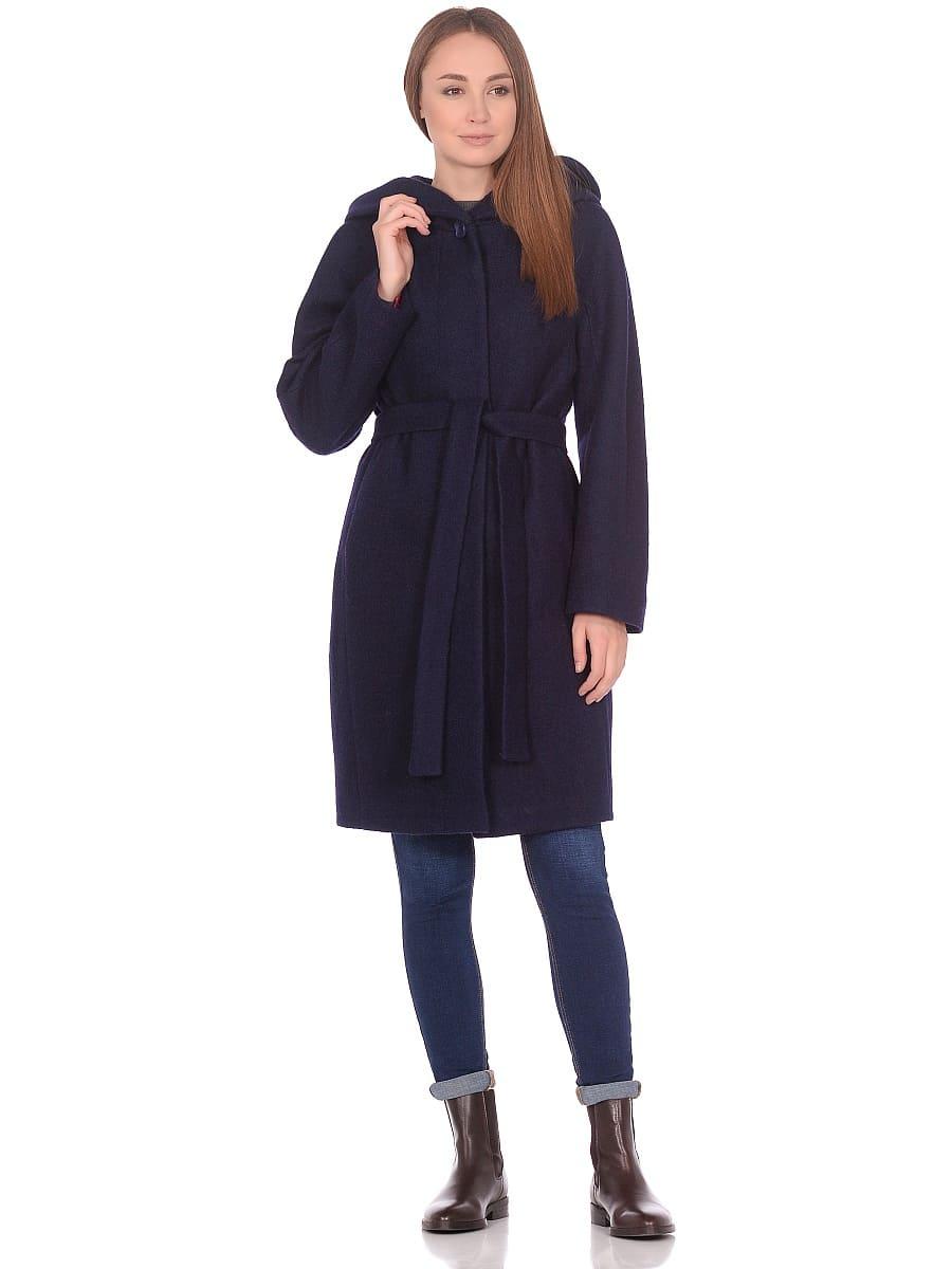 Женское демисезонное пальто hr-033 синее фото-1