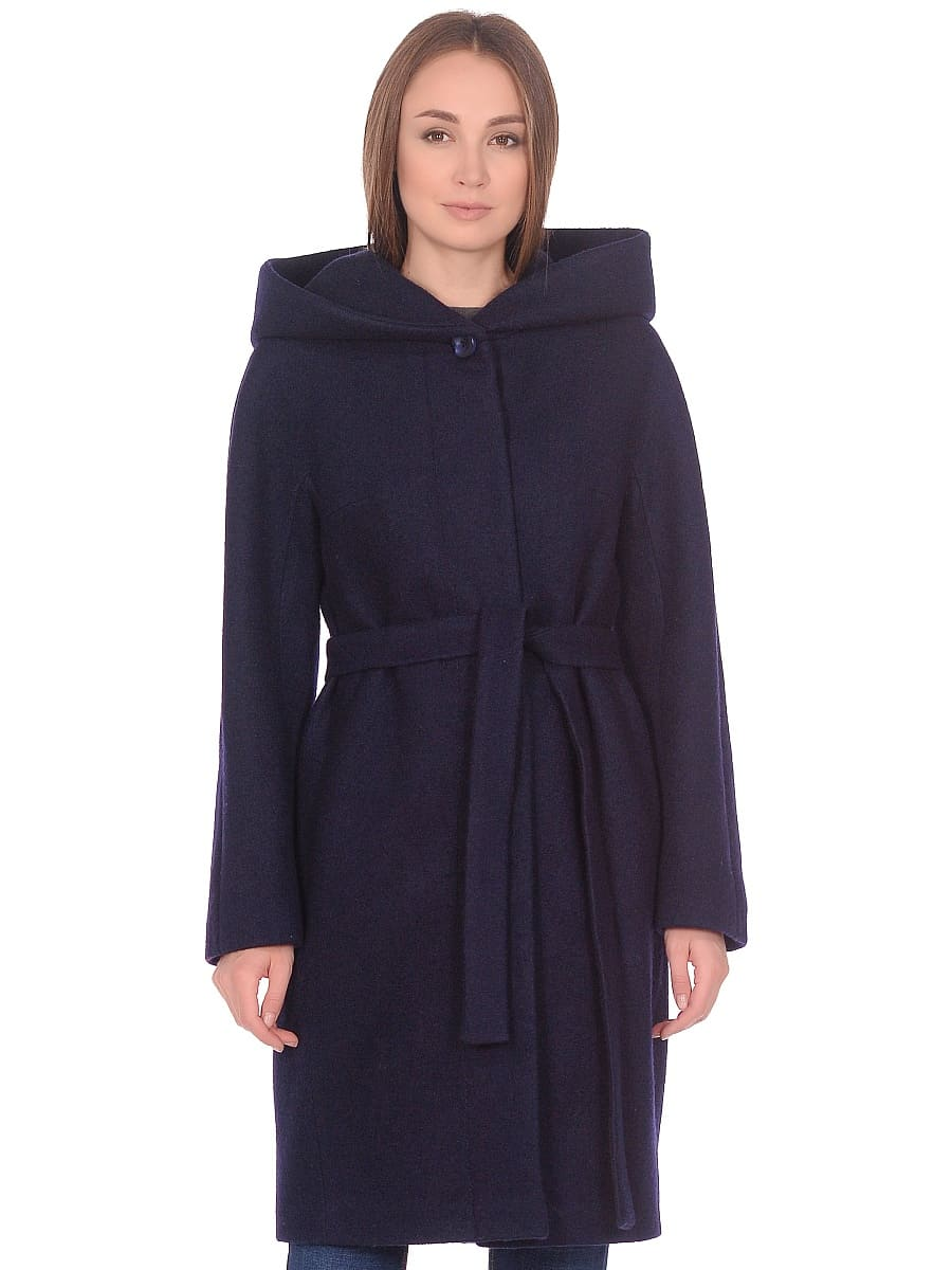 Женское демисезонное пальто hr-033 синее фото-2