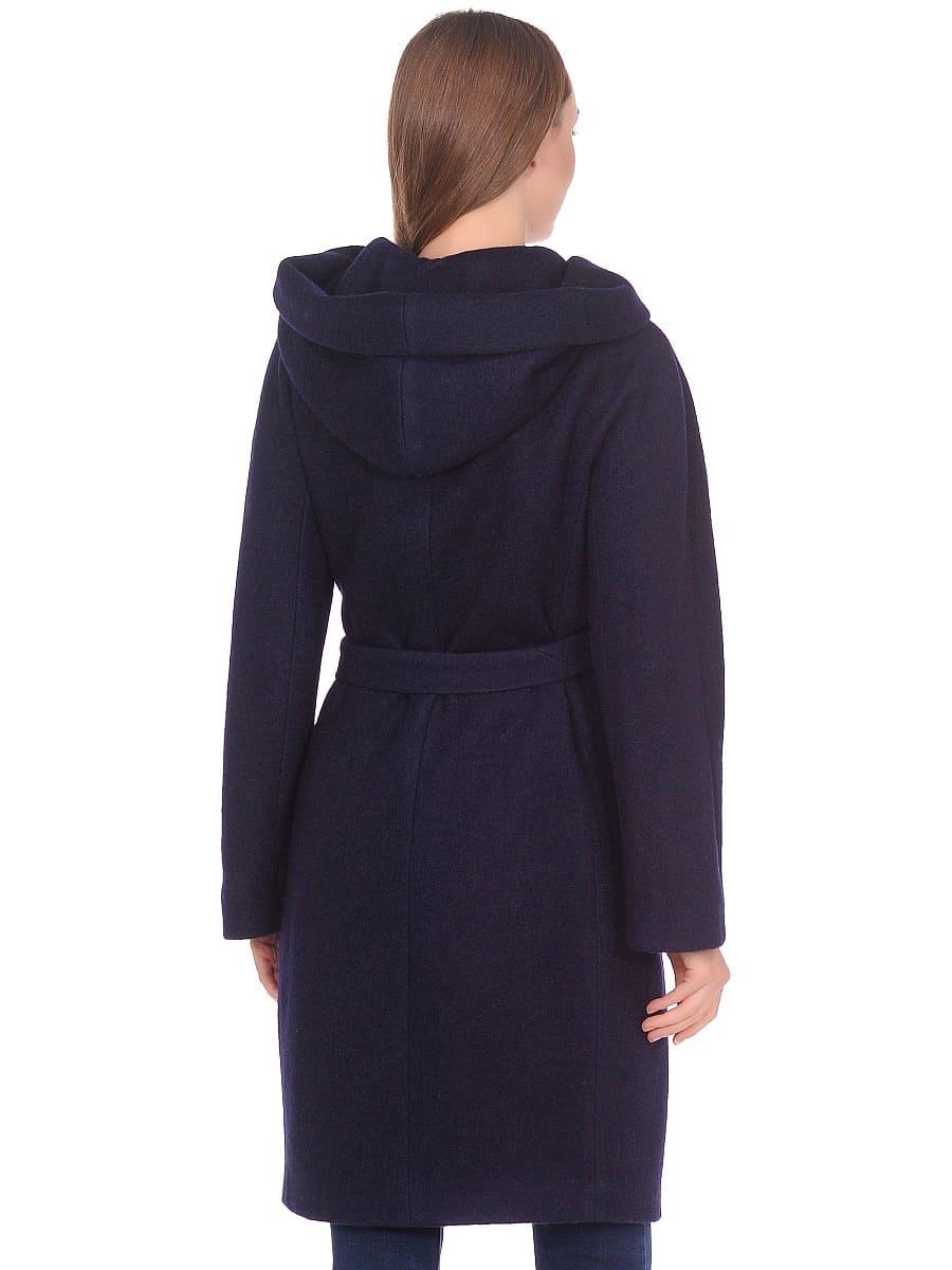 Женское демисезонное пальто hr-033 синее фото-3