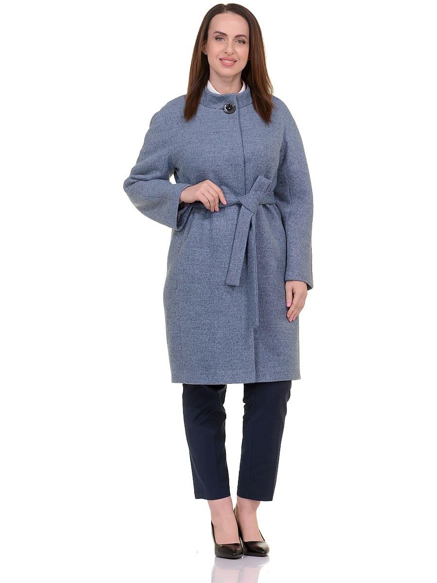 Женское демисезонное пальто hr-034 голубое фото-1
