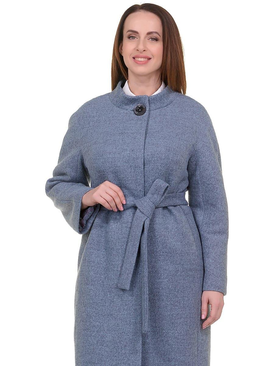 Женское демисезонное пальто hr-034 голубое фото-2