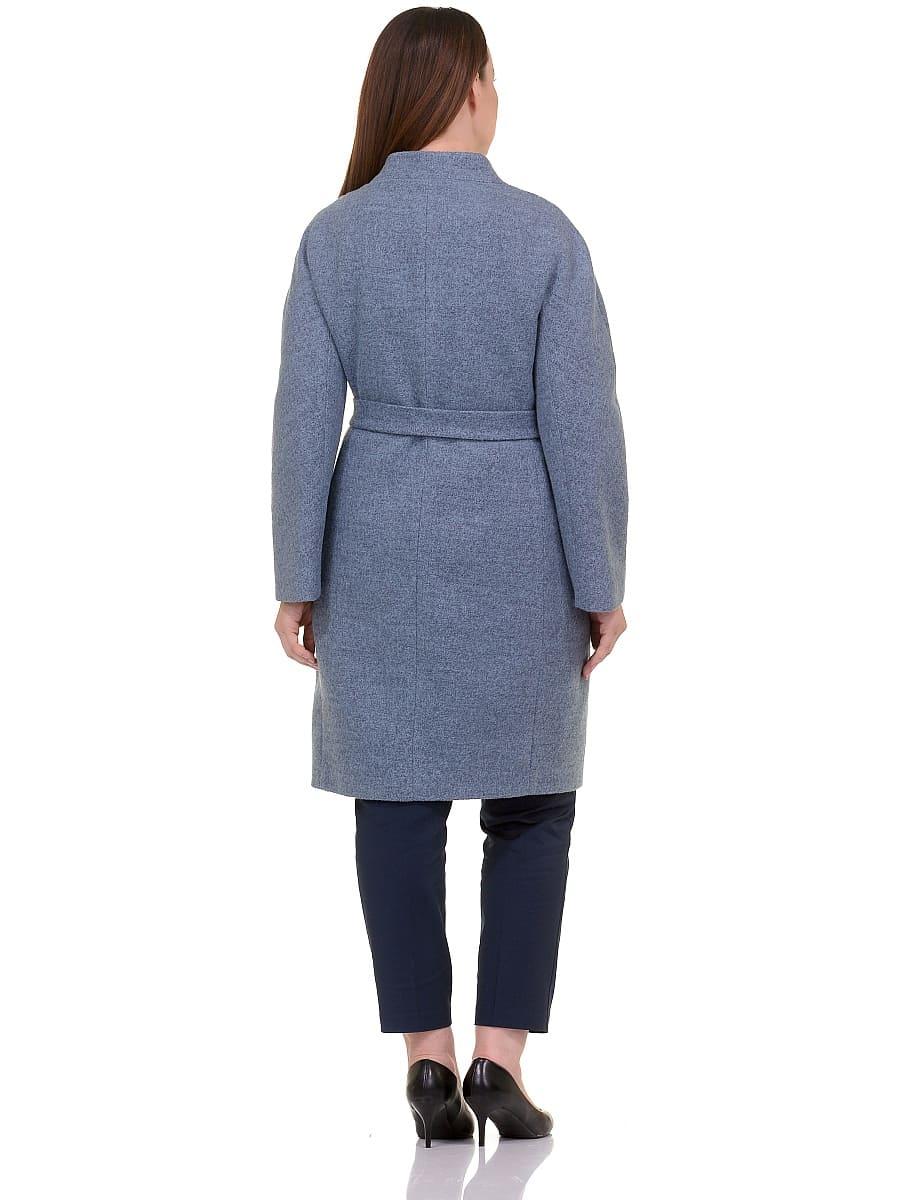 Женское демисезонное пальто hr-034 голубое фото-3
