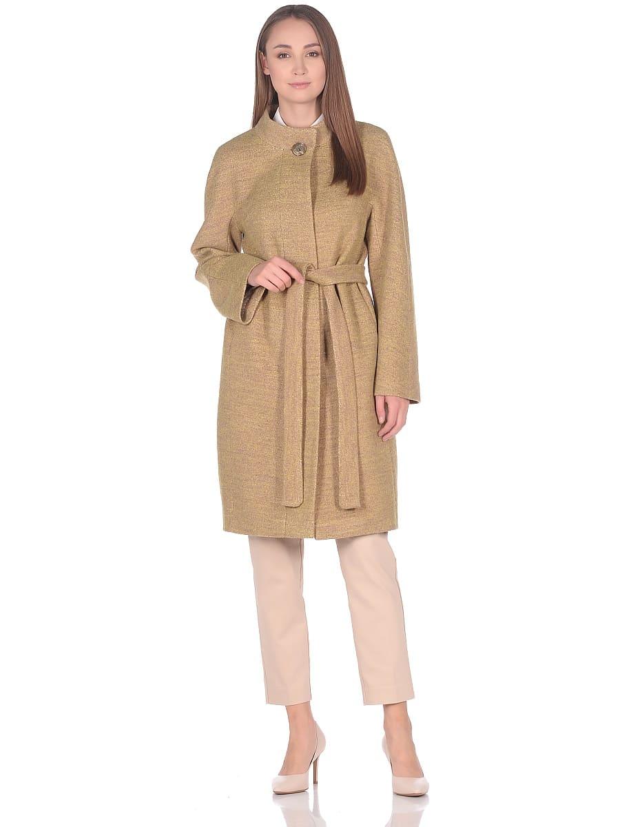 Женское демисезонное пальто hr-034 желтое фото-1