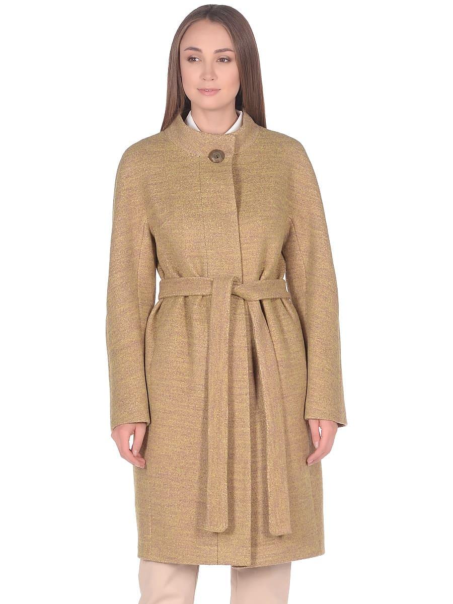 Женское демисезонное пальто hr-034 желтое фото-2