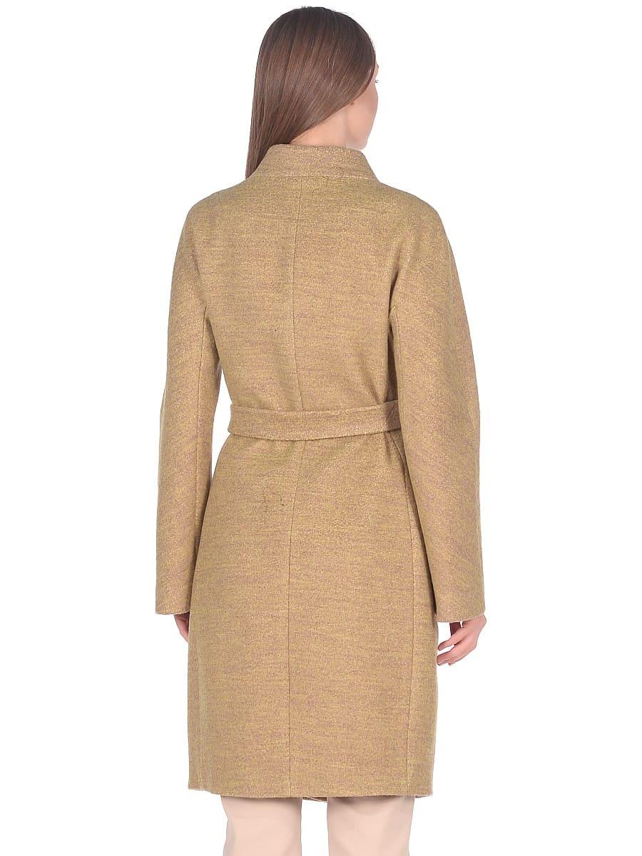 Женское демисезонное пальто hr-034 желтое фото-3