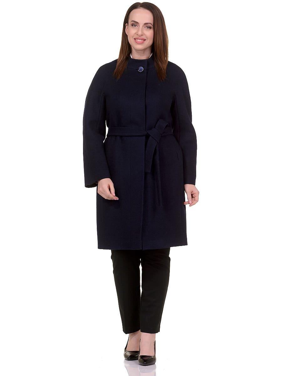 Женское демисезонное пальто hr-034 синее фото-1