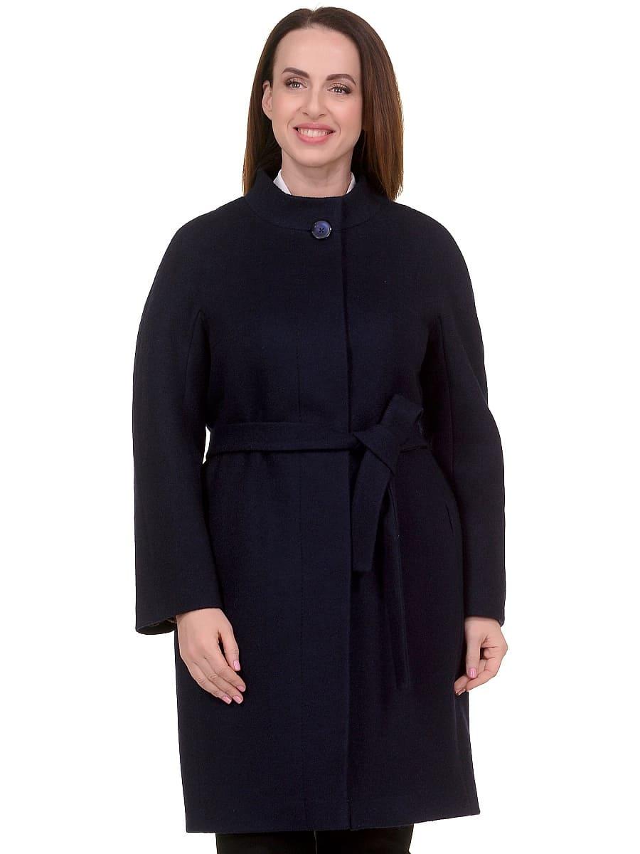 Женское демисезонное пальто hr-034 синее фото-2