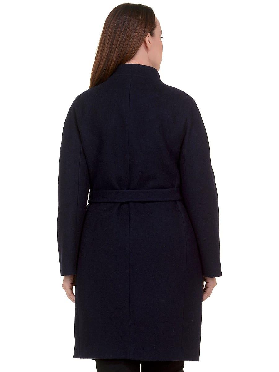 Женское демисезонное пальто hr-034 синее фото-3