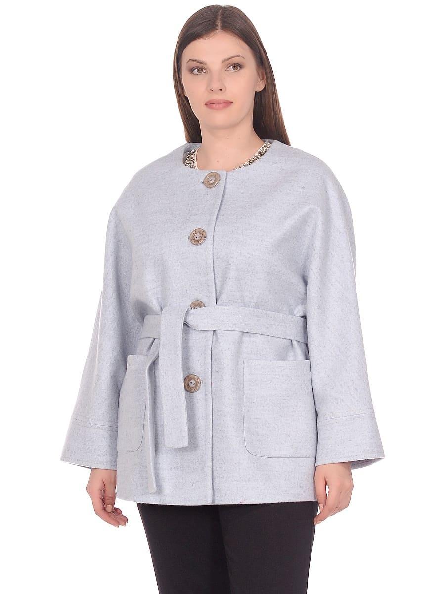 Женское демисезонное пальто hr-035 голубое фото-2