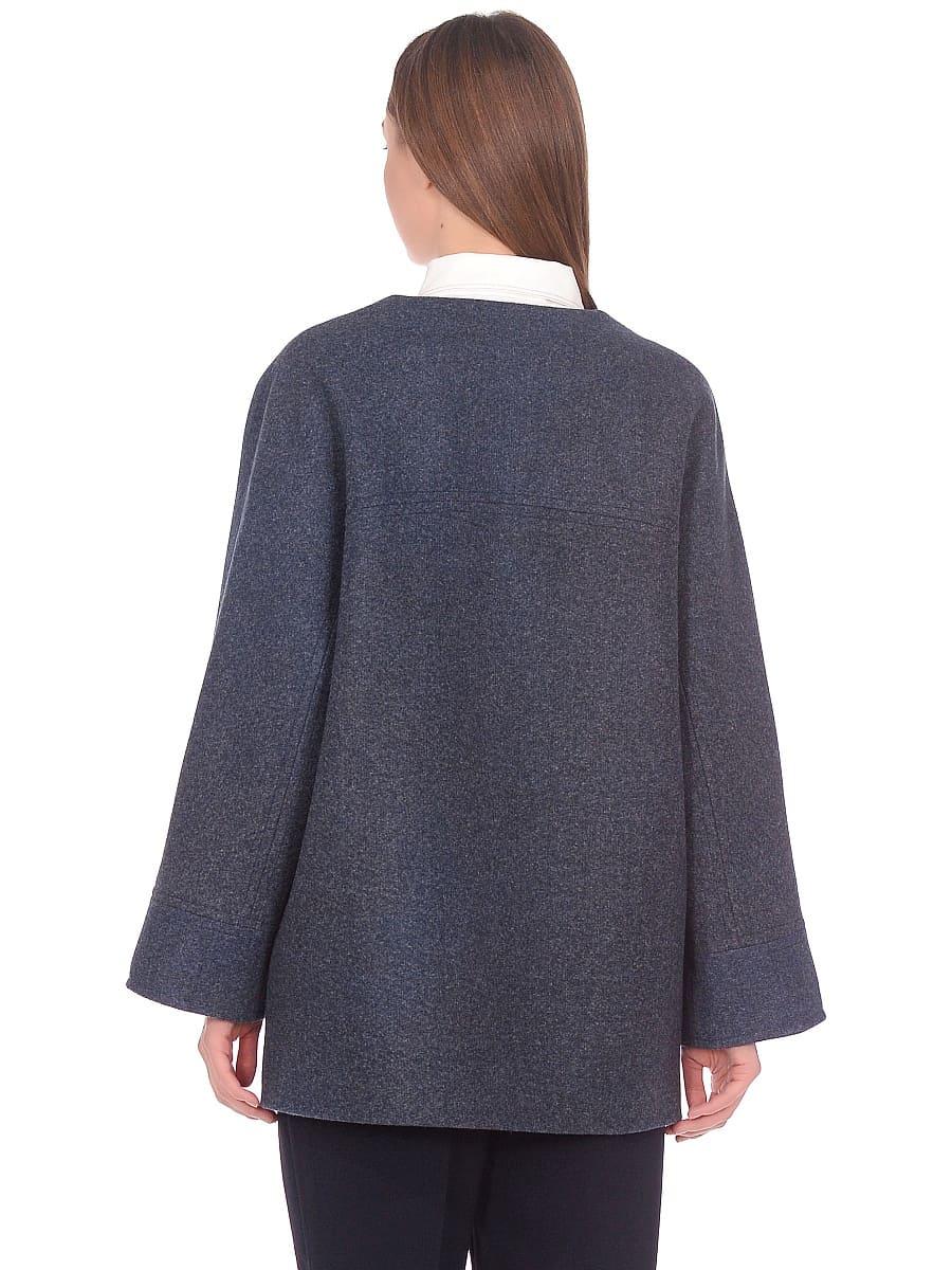 Женское демисезонное пальто hr-035 синее фото-3