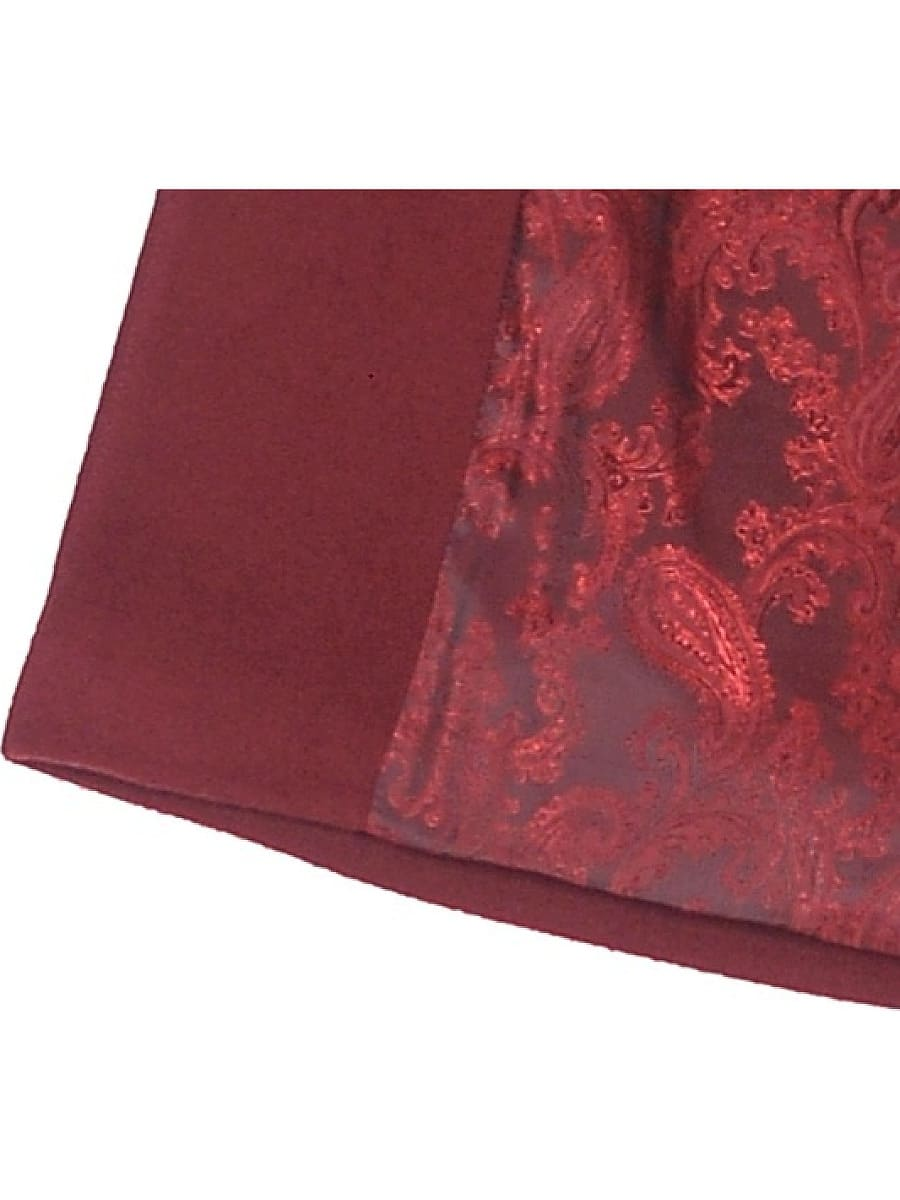 Женское демисезонное пальто hr-035a бордовое фото-4