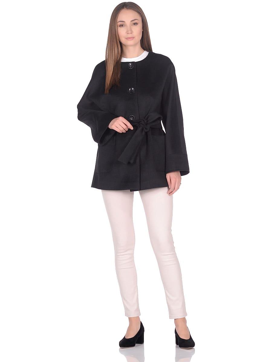 Женское демисезонное пальто hr-035a черное фото-1