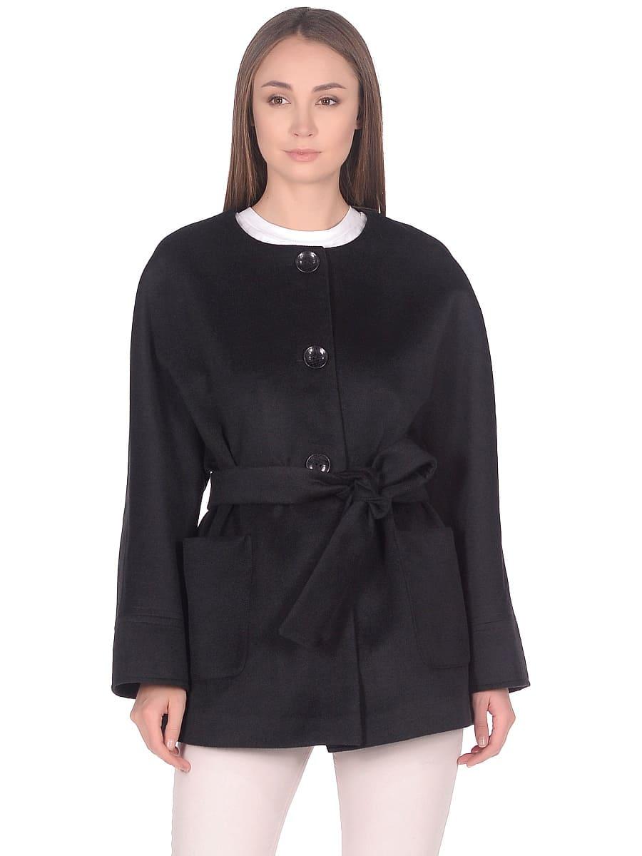 Женское демисезонное пальто hr-035a черное фото-2