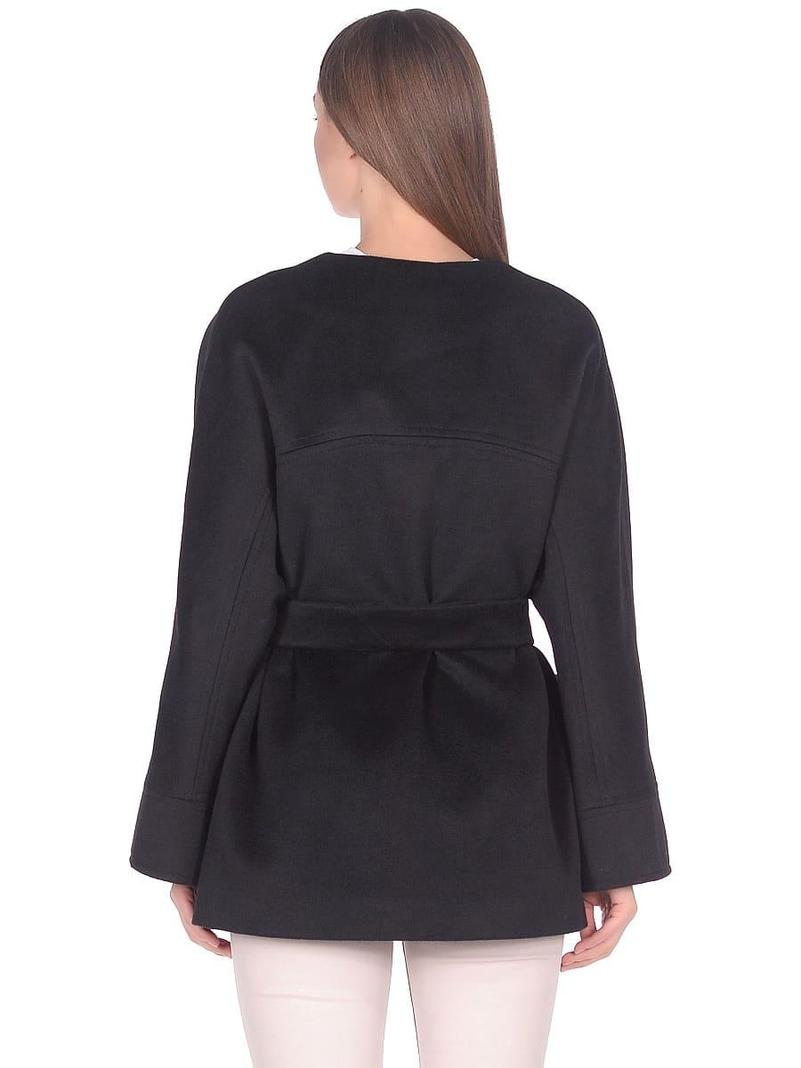 Женское демисезонное пальто hr-035a черное фото-3