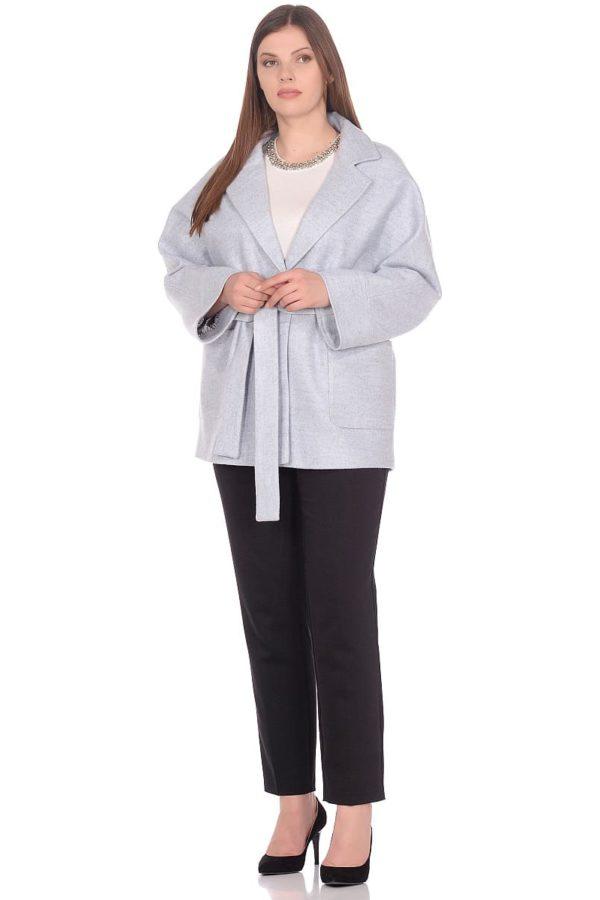 Женское демисезонное пальто hr-036 голубое фото-1