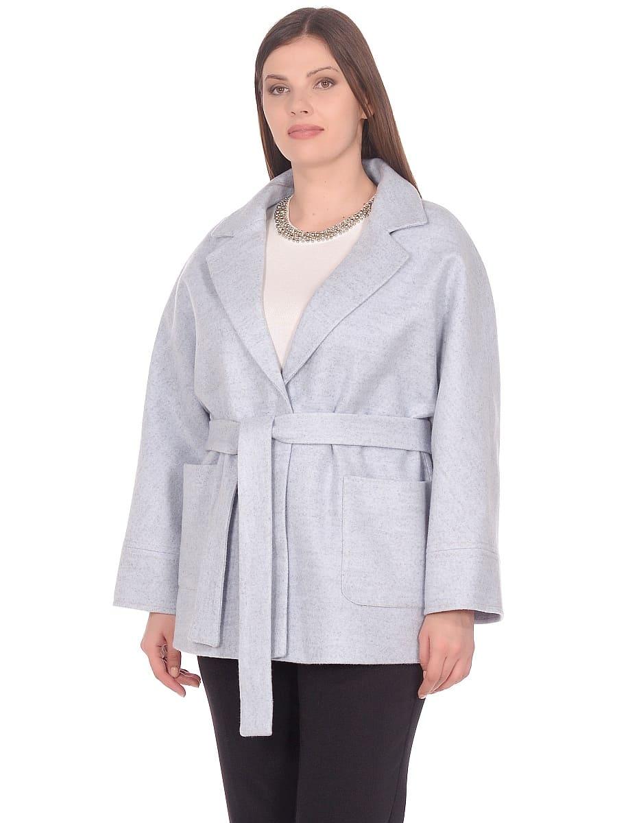 Женское демисезонное пальто hr-036 голубое фото-2