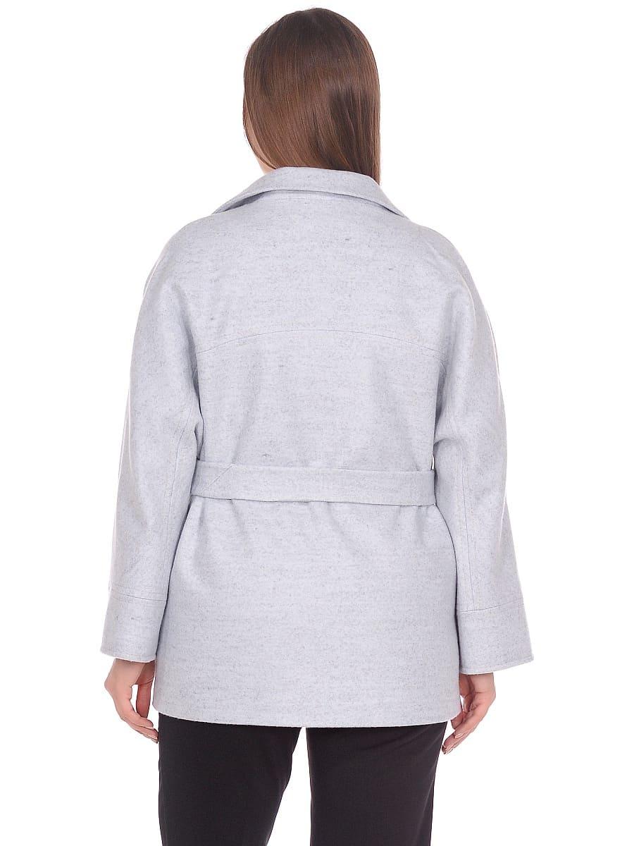 Женское демисезонное пальто hr-036 голубое фото-3