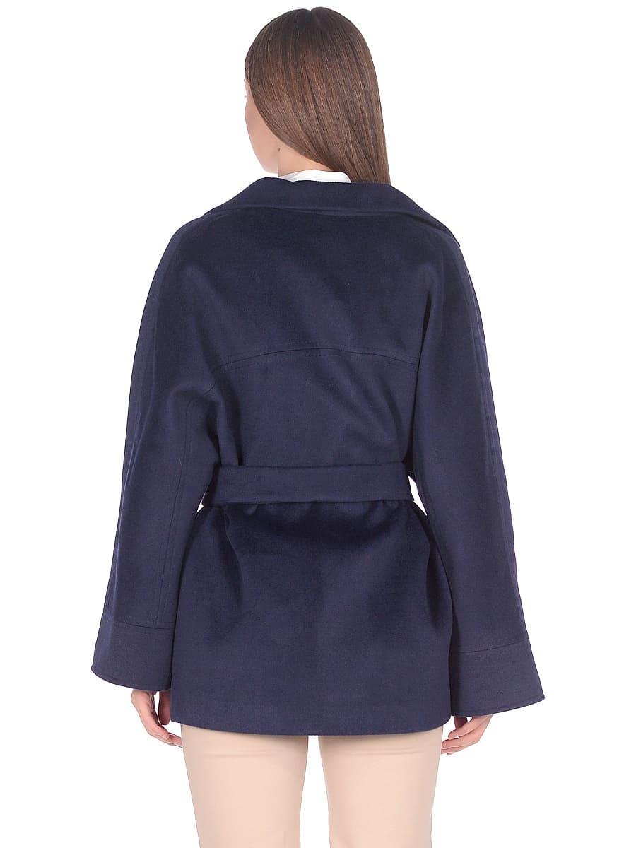 Женское демисезонное пальто hr-036a синее фото-3