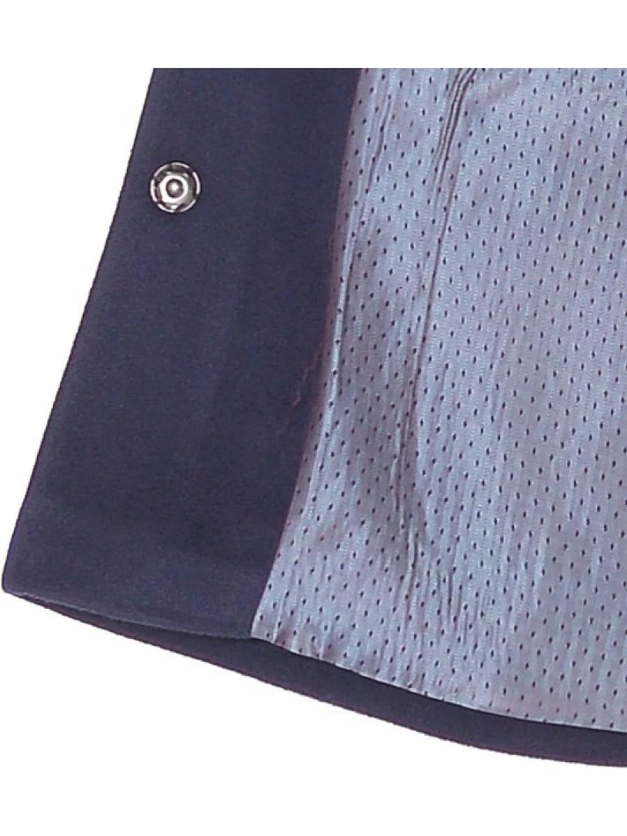 Женское демисезонное пальто hr-036a синее фото-4