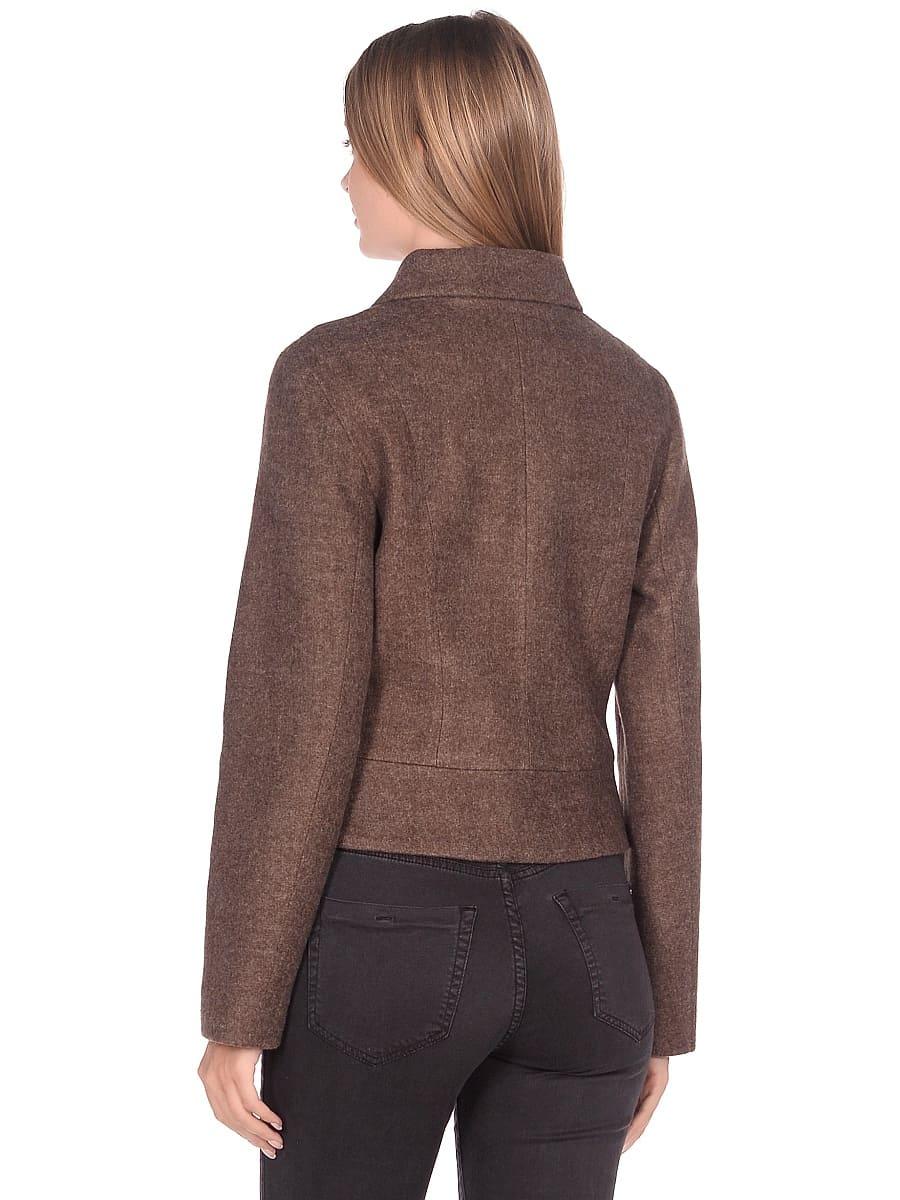 Женское демисезонное пальто hr-037 бежевое фото-3