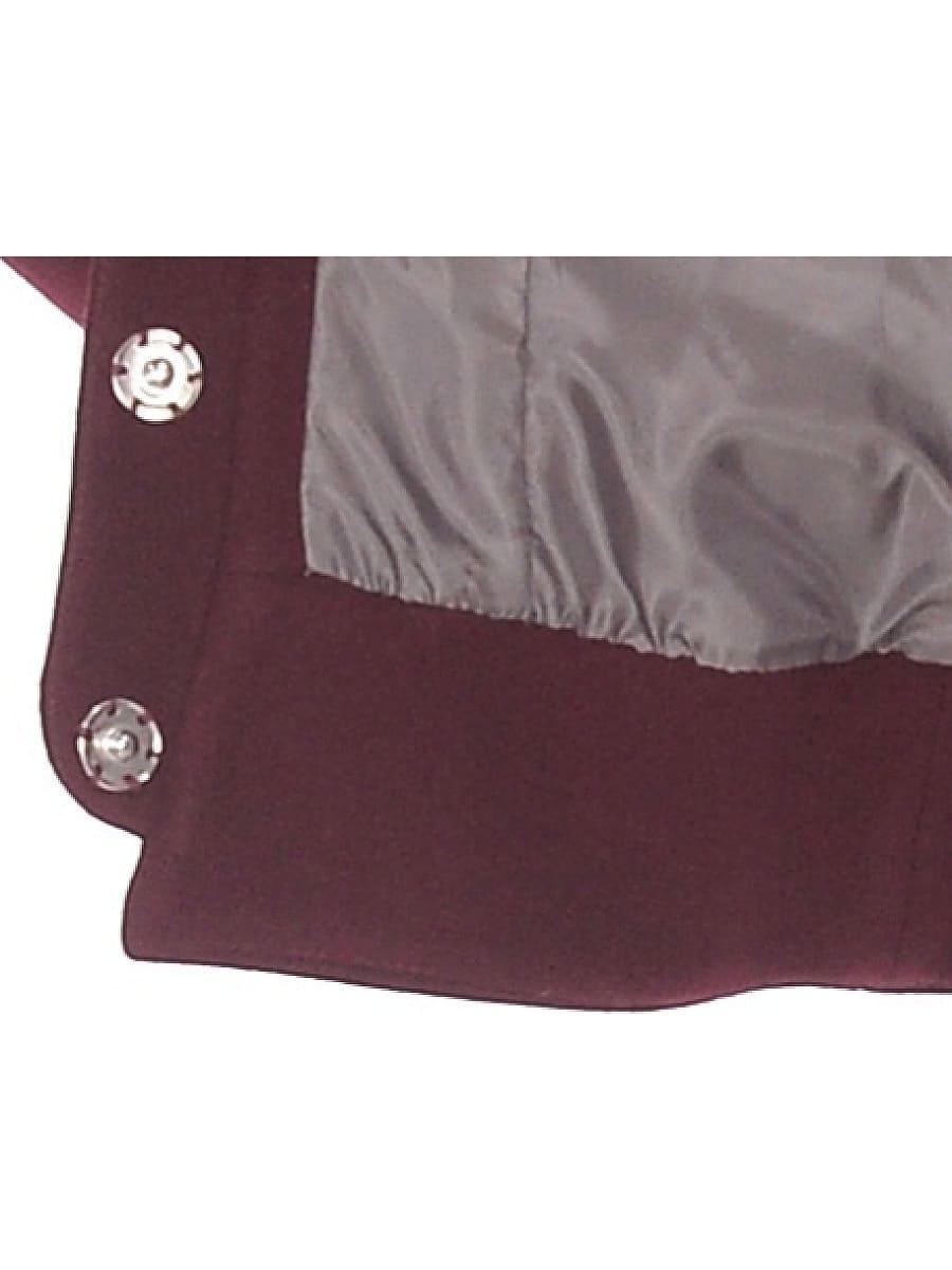Женское демисезонное пальто hr-037 бордовое фото-4