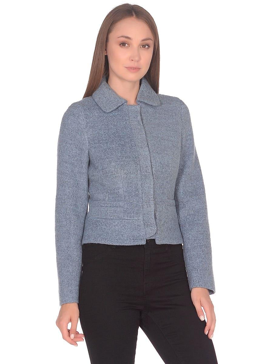 Женское демисезонное пальто hr-037 голубое фото-2