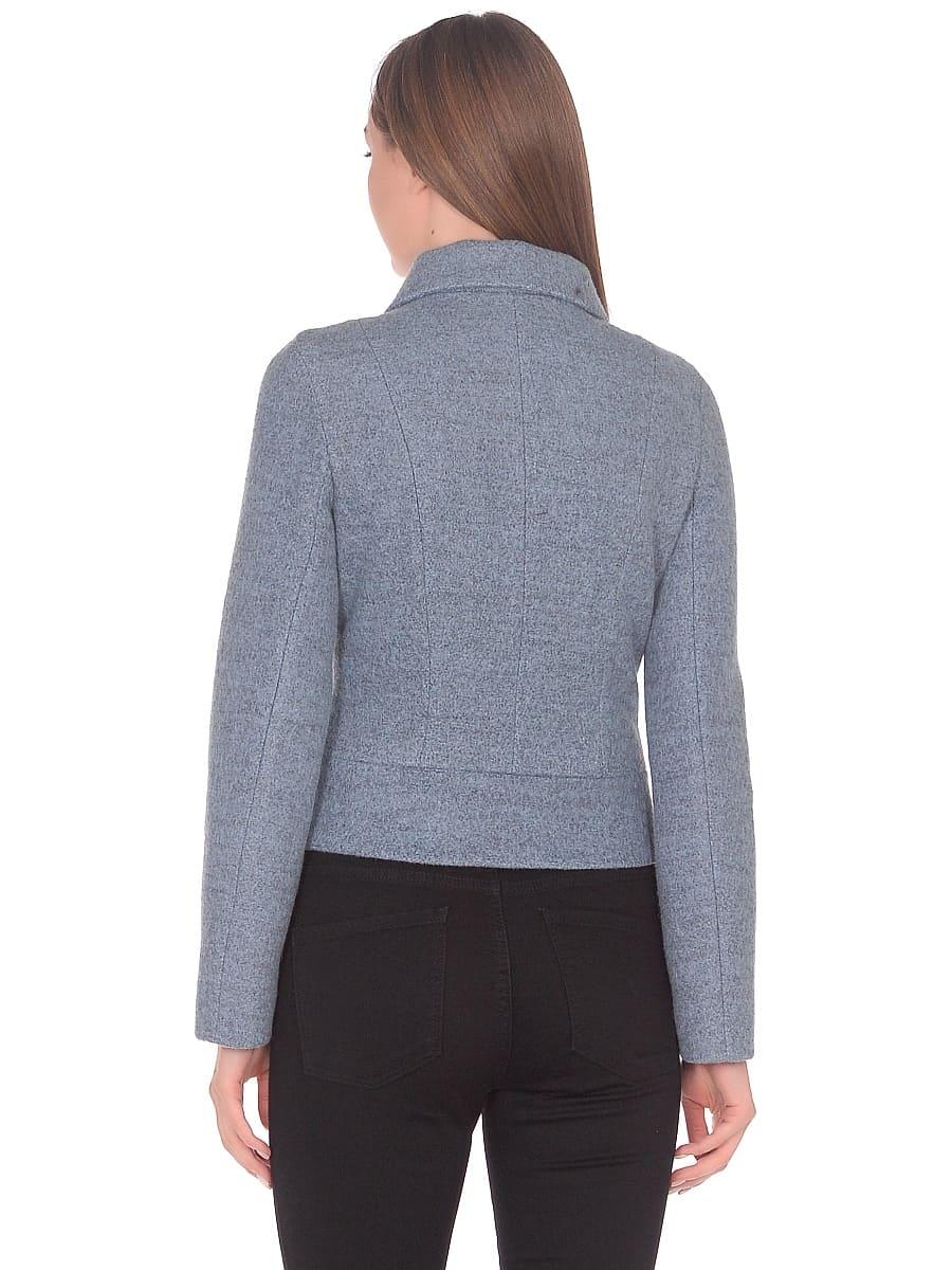 Женское демисезонное пальто hr-037 голубое фото-3