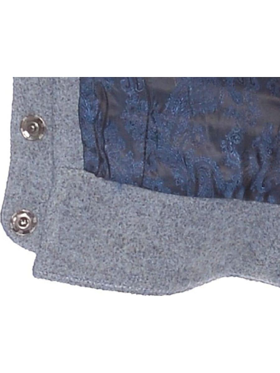 Женское демисезонное пальто hr-037 голубое фото-4