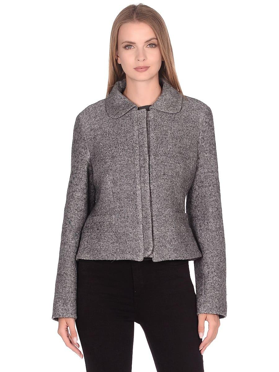 Женское демисезонное пальто hr-037 серое фото-2