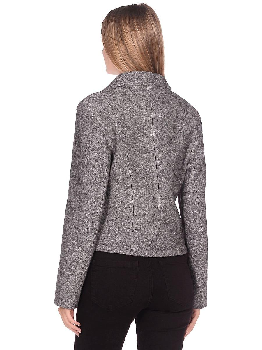 Женское демисезонное пальто hr-037 серое фото-3