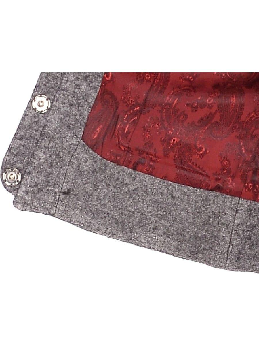Женское демисезонное пальто hr-037 серое фото-4