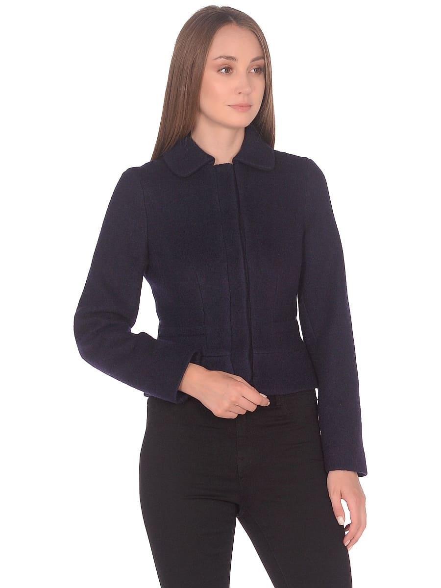 Женское демисезонное пальто hr-037 синее фото-2