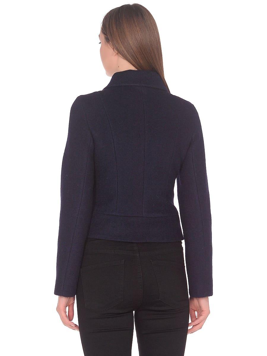 Женское демисезонное пальто hr-037 синее фото-3