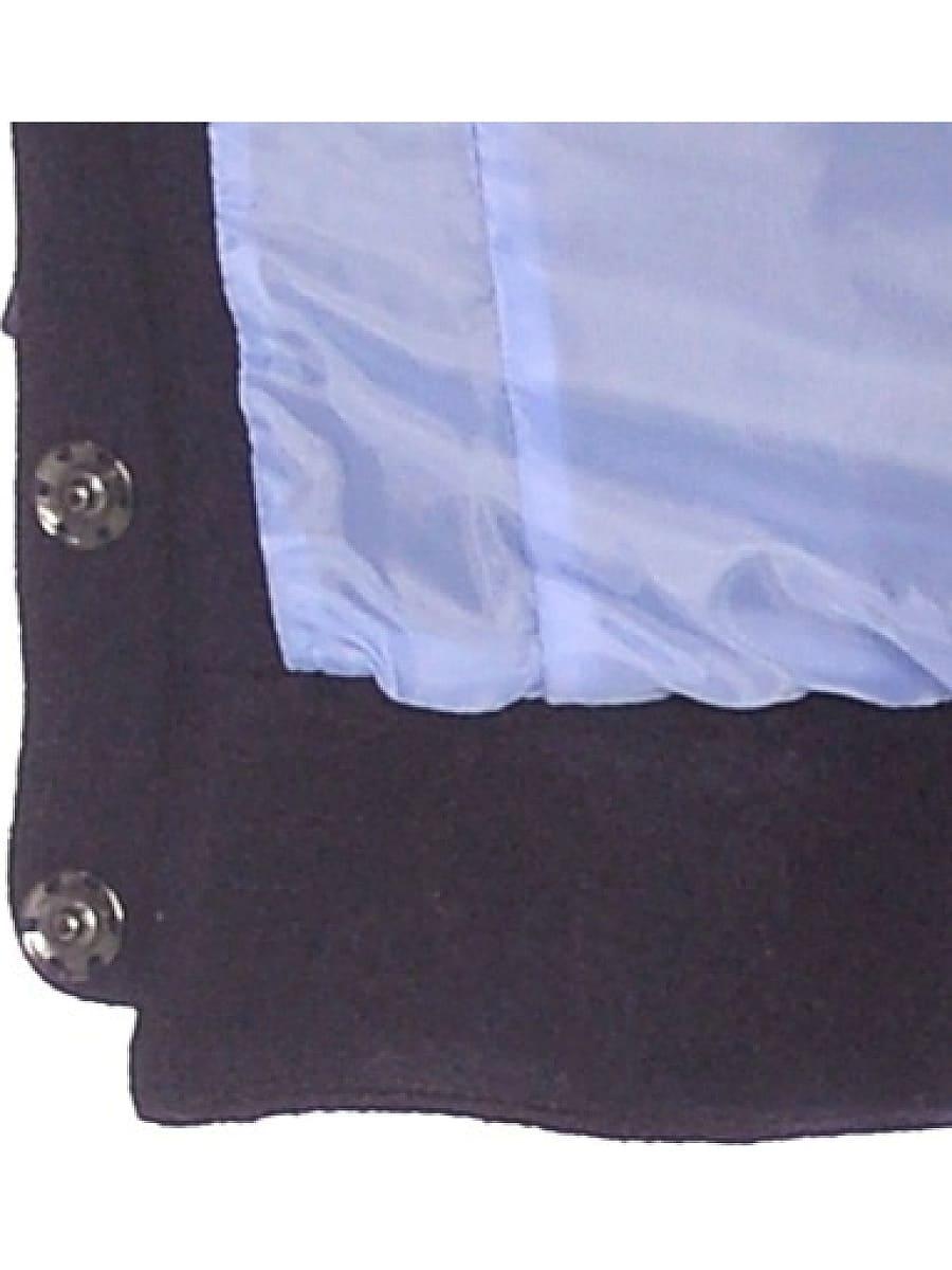 Женское демисезонное пальто hr-037 синее фото-4