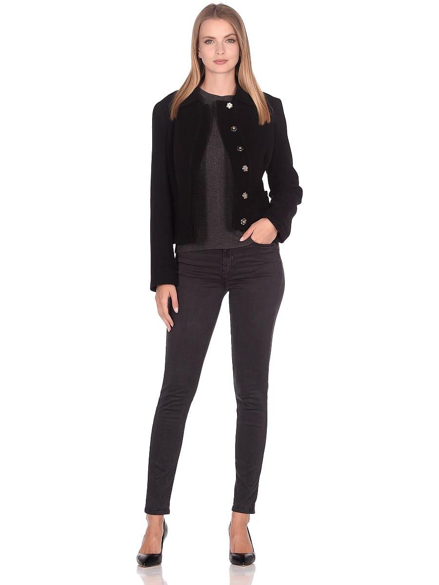 Женское демисезонное пальто hr-037 черное фото-1
